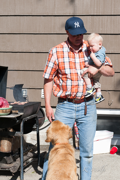 Erick was on BBQ duty. Good thing Kane and Indy were there to help!
