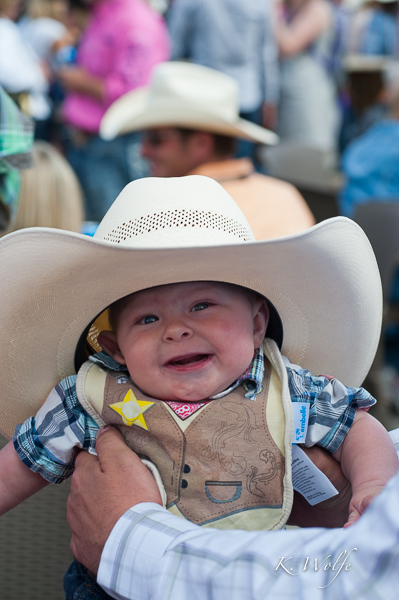 Kane at his first Stampede
