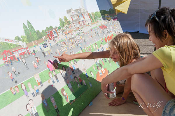 The RMH Block Party was captured in a pretty amazing mural