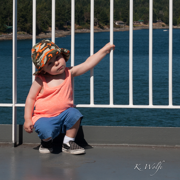 My little poser on BC Ferries