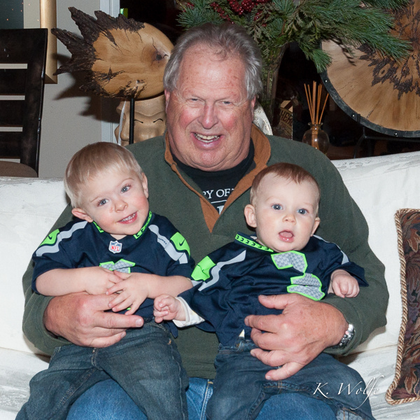 Love this shot of Grandpa Bob with Kane and Cole.