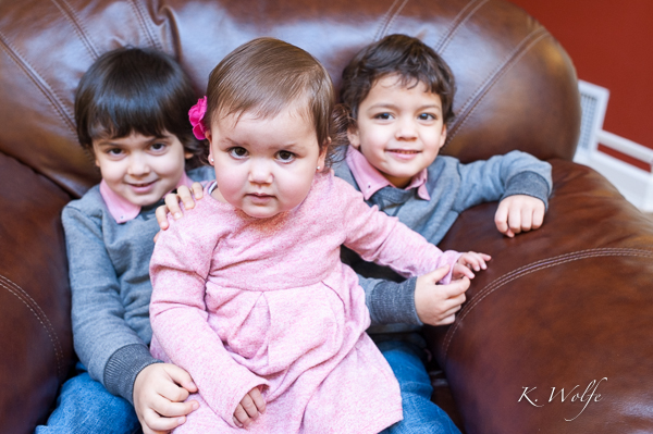 Safiya with her brothers, Jibril and Ayoub.