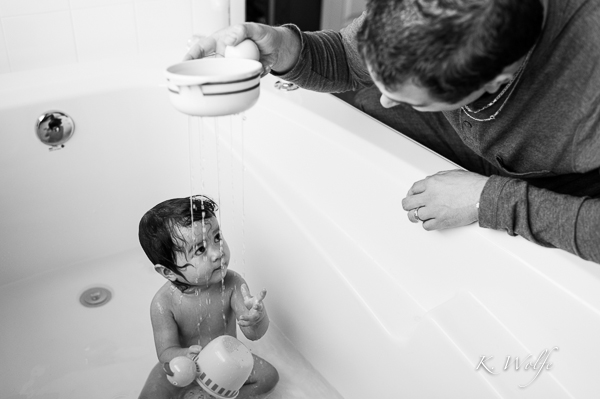 Bathtime with dad.