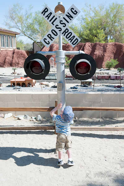 Kane loves railway crossings!