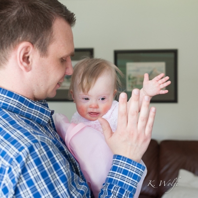 High fives with Daddy.
