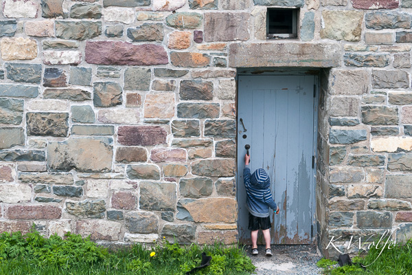 Turns out Cabot Tower is closed for renovations, but Kane was trying to get in to some of the outbuildings.