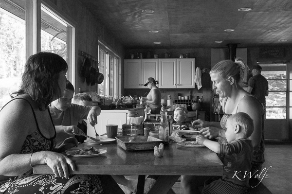 Breakfast in the cabin.