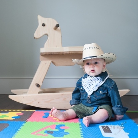 Mav decked out for his first Calgary Stampede.