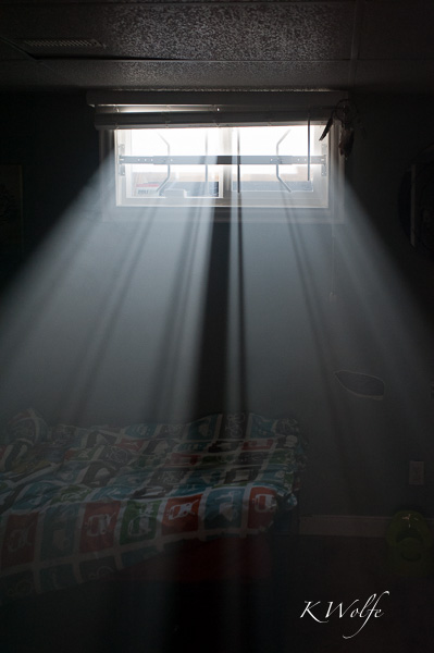 You have noticed the crazy light in the photos. The boys' room is in the basement and I had to open up the blinds (which I have never done before) to get enough light.