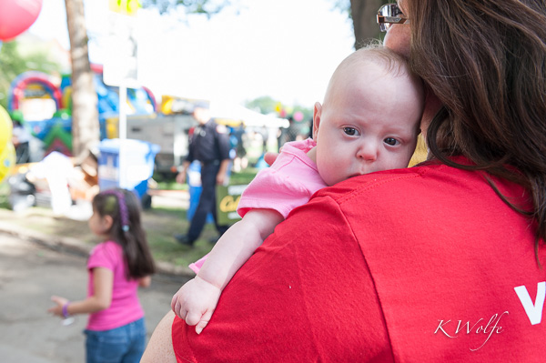 I ran into this little warrior from my  and her mom who were one of the many volunteers involved.