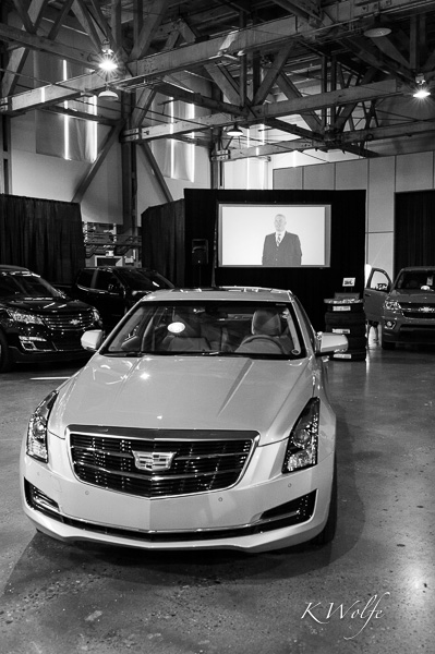 Inside, where all the new vehicles were showcased, they had a video running that talked about Edmonton Motors through the years.