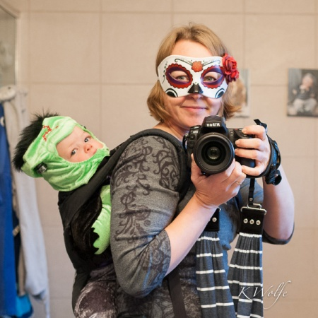 This is my submission to Clickin Moms. I just wished I'd stepped further into the bathroom with Frankenbaby.